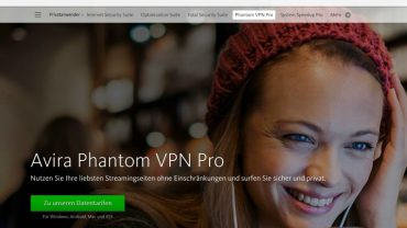 Anonym Surfen mit Avira Phantom VPN - Screenshot